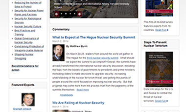 Harvard's Belfer Center Launches One-Stop Website for Nuclear Security Facts, Analysis