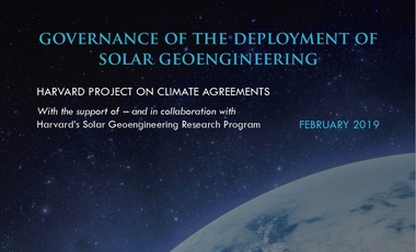 Governance of the Deployment of Solar Geoengineering Cover Crop