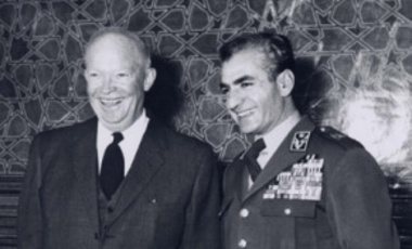 U.S. President Dwight D. Eisenhower and Mohammad Reza Shah in Tehran, Iran, 1959.