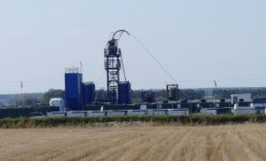 Shale gas drilling station in a village in the district of Krynica Krasnostaw in Lublin province, Poland, 17 September 2011.