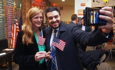 Amb. Samantha Power Welcoming New American Citizens at a Naturalization Ceremony