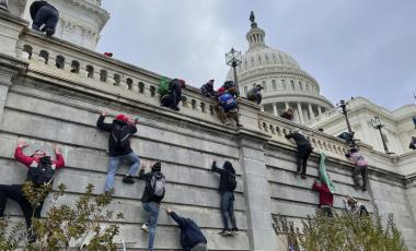 """Stop The Steal"" protest: Trump supporters storm the Capitol on January 6, 2021 (Washington DC, USA)."