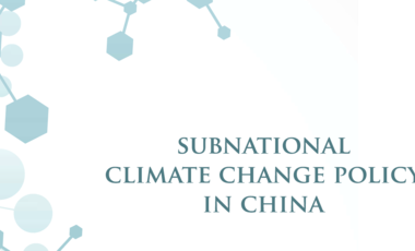 Subnational Climate Change Policy in China front cover crop