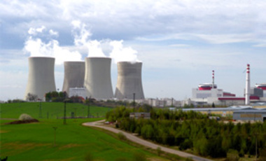The Czech nuclear power plant at Temelin, Apr.29, 2003. Located just 60 km north of the Austrian border, the plant based on Soviet design and upgraded with U.S. technology has been a source of friction between the 2 states.