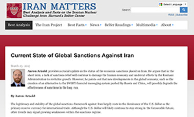 Current State of Global Sanctions Against Iran