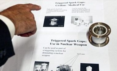 "A ""triggered spark gap"", or high speed electrical switch, which is used in the medical field but also forms part of a triggering system for detonating a nuclear weapon, is shown as an example of a dual-use technologies."