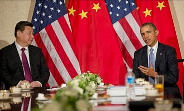 A 2014 meeting between President Barack Obama and Chinese President Xi Jinping in the Netherlands
