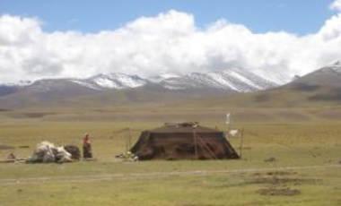 Nomads near Lake Namtso, Tibet, 2005
