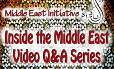 Inside the Middle East: Q&A with Marwan Muasher