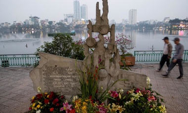John McCain Monument in Hanoi