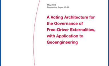 A Voting Architecture for the Governance of Free-Driver Externalities, with Application to Geoengineering