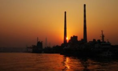 Shanghai's Yangshupu Power Plant which shut down in 2010 for carbon dioxide reduction, December 28, 2013. The plant will become an exhibition facility showing the native culture of Shanghai.