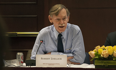 Robert Zoellick at the Belfer Center International Council meeting (April 2014)