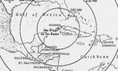 Map of missile range in Cuba.