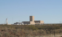 The Waste Isolation Pilot Plant in New Mexico, photographed in 2004.