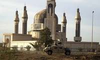 Mother Of All Battles Mosque secured by 1-15th Infantry Regiment of 3rd Brigade 3rd Infantry Division on 13 April 2003 in North Western Baghdad.