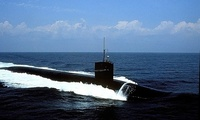 The USS Pennsylvania, a nuclear-armed Ohio-class ballistic missile submarine
