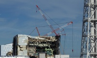 The Unit 4 reactor building of the crippled Fukushima Dai-ichi nuclear power station on Nov. 12, 2011.