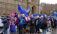 London December 5 2018 Brexit Protest at Parliament