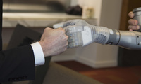 "A prosthetic arm named LUKE, developed by a new commercial enterprise following fast-track DARPA research projects—""LUKE"" stands for Life Under Kinetic Evolution"