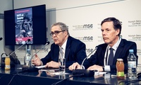 "Ambassadors Douglas Lute and Nicholas Burns present their ""NATO at Seventy"" report at the Munich Security Conference. February 2019."