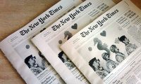 Three New York Times newspapers
