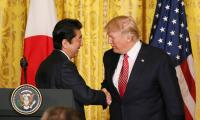 President Trump meets with Japanese President Abe