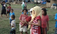 Internally displaced persons (IDP)s in Maguindanao during the 2008 war between elements of the Moro Islamic Liberation Front and the Armed Forces of the Philippines.