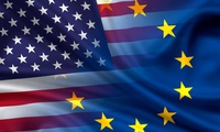 Flags of the United States and the EU