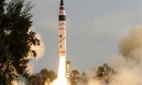India test-fired its surface-to-surface nuclear capable Agni-I (A) ballistic missile off Abdul Kalam Island in its eastern state of Odisha on 6 February 2018.