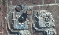 Satellite image of the half-built light water reactor site in North Korea.