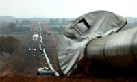 A gas pipeline under construction is seen near the village of Sappes, north-east Greece, Tuesday, Nov. 21, 2006.