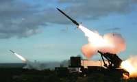 A U.S. Army Patriot missile is test-launched.