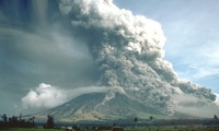 Pyroclastic flows descend the south-eastern flank of Mayon Volcano, Philippines. Maximum height of the eruption column was 15 km above sea level, and volcanic ash fell within about 50 km toward the west.