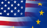 Flags of US and EU