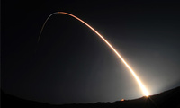 A Minotaur 4 rocket carrying the Space Based Space Surveillance satellite blasts off and heads toward orbit at Vandenberg Air Force Base, Calif., Sep 25, 2010. The satellite is designed to detect and monitor debris, satellites, and other space objects.