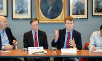 Professor Nicholas Burns and Congressman Joe Kennedy III