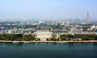 Panorama of Pyongyang, North Korea.