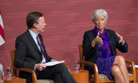 Nicholas Burns and Christine Lagarde at JFK Jr. Forum