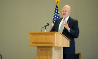 James Clapper speaks at a Coast Guard event in Washington on Dacember 3, 2013.