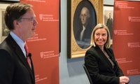 Federica Mogherini and Nicholas Burns during the event.