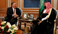 Mike Pompeo meets with the Saudi Crown Prince Mohammed bin Salman during his recent visit to Riyadh.