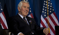 Senator Lugar at a 2012 ceremony where he received the Distinguished Public Service Award, the highest award the Department of Defense can give a civilian, for his work to help denuclearize countries after the fall of the Soviet Union (DoD photo by Erin A. Kirk-Cuomo).