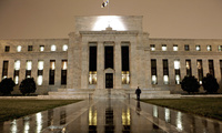 This photo shows the Federal Reserve Building on Constitution Avenue in Washington in March 2009.