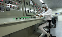 An Iranian technician works at the Uranium Conversion Facility outside the city of Isfahan, on Saturday, Feb. 3, 2007. Iran's nuclear program has been the target of several cyberattacks. (AP Photo/Vahid Salemi, File)