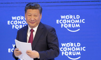 Chinese President Xi Jinping smiles at the audience after concluding his speech at the 2017 World Economic Forum in Davos, Switzerland,  January 17, 2017.