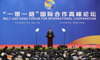 Chinese President Xi Jinping speaks during a news conference