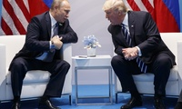 Presidents Trump and Putin at G-20