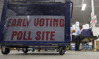 Voting equipment is prepared for the upcoming primary elections at the Bexar County Election offices, on Tuesday, Feb. 13, 2018, in San Antonio. (AP Photo/Eric Gay)