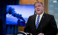 During his June 13, 2019 presentation at the U.S. State Department, Secretary of State Mike Pompeo claims that Iran was most likely to have responsible for the recent attacks on oil tankers in the Persian Gulf.